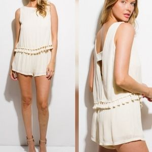 Sexy & Flirty, Fringe Detailed Rayon Romper!